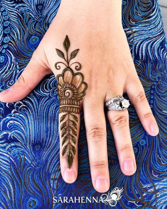 basic hand henna design finger mehndi