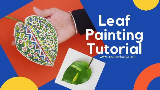 how to paint a leaf with acrylic paint