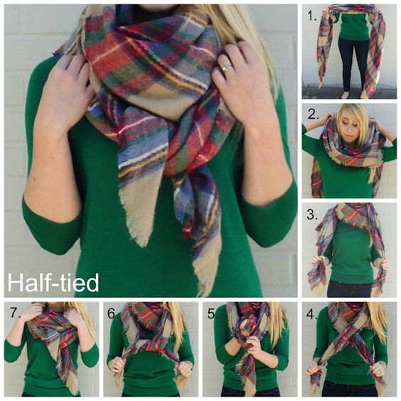how to tie a scarf half tied