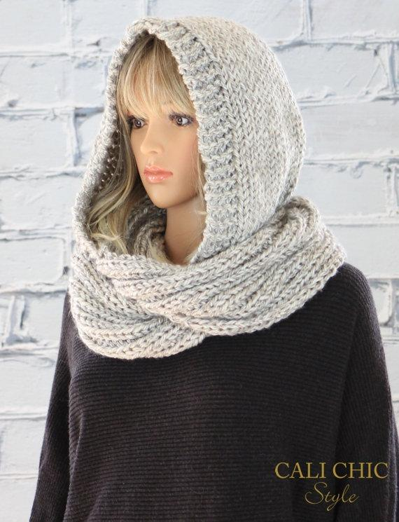how to tie a scarf hooded style