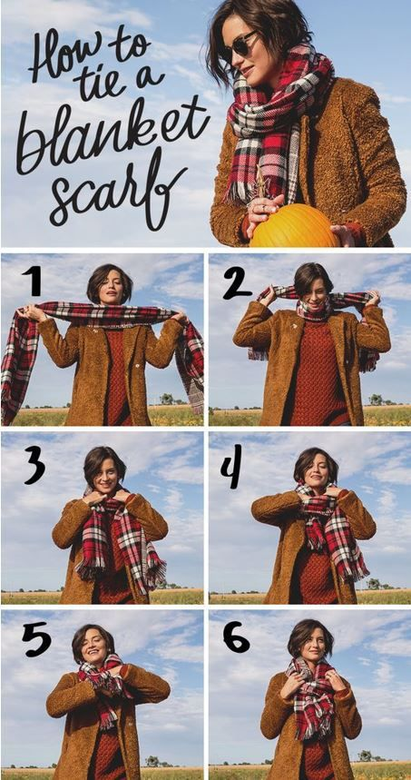 how to tie a scarf blanket scarf