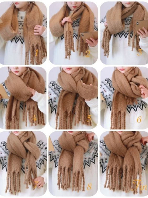 how to tie a scarf twisted loop