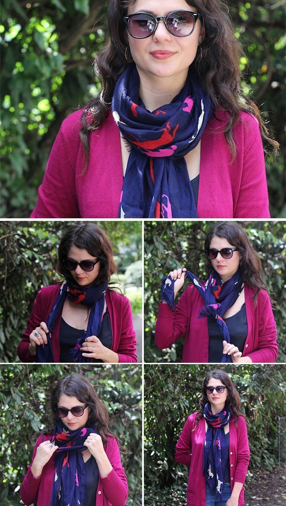 how to tie a scarf chic style