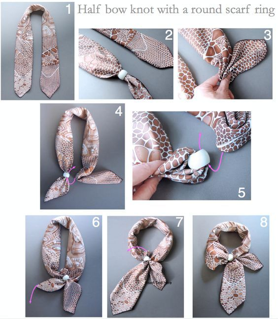 how to tie a scarf lady like