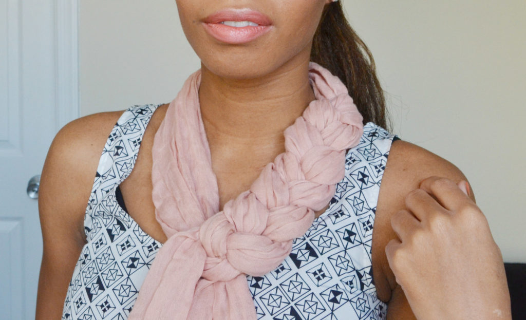 how to tie a scarf braided style