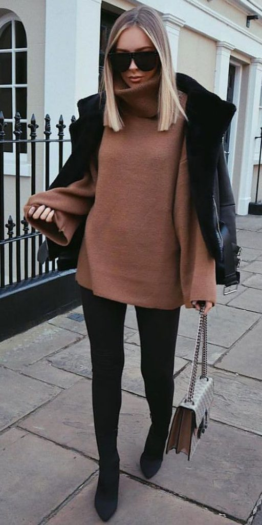 winter inspired outfits to wear to work chic outfit
