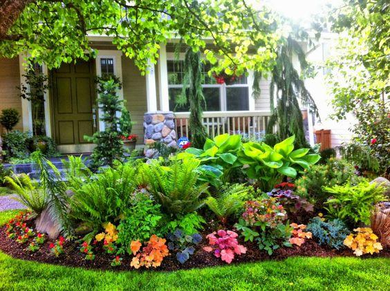 front garden ideas centered design
