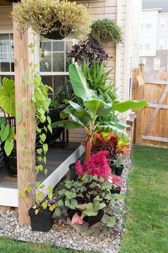 front garden ideas cornered design