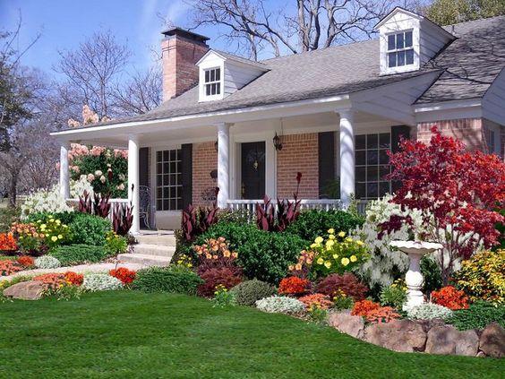 front garden ideas colorful floral
