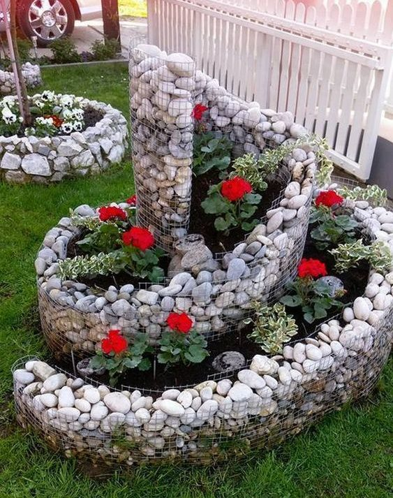 front garden ideas swirl design