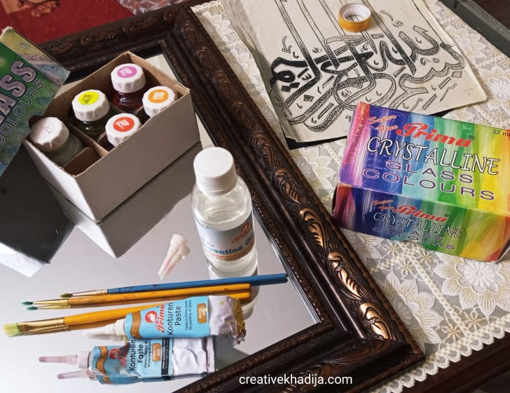 Islamic Calligraphy Glass Painting On Mirror | How To Do It At Home