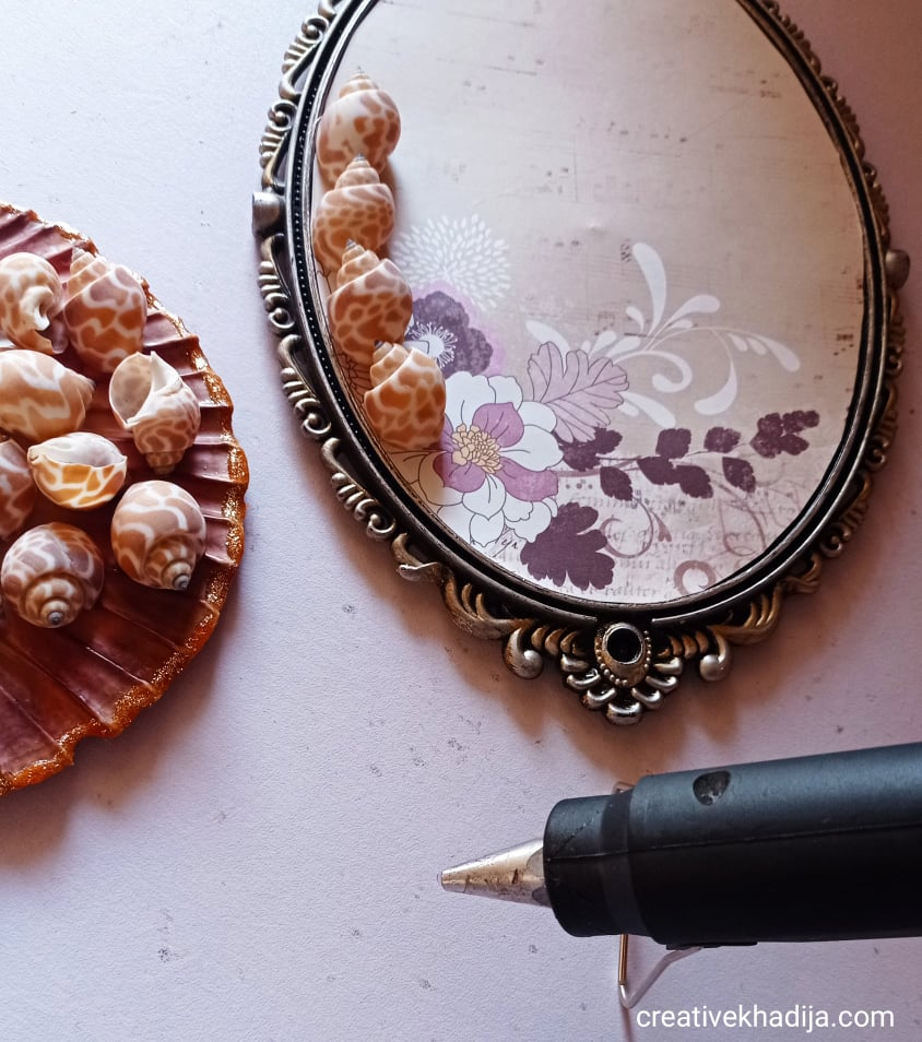 DIY Mirror Decor | Easy Art Ideas using Seashells | make crafts tutorials