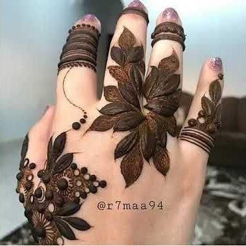 mehndi designs for eid for hands flower