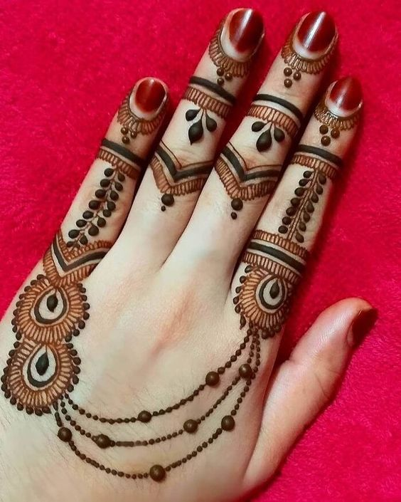 ring style mehndi designs for Eid for fingers