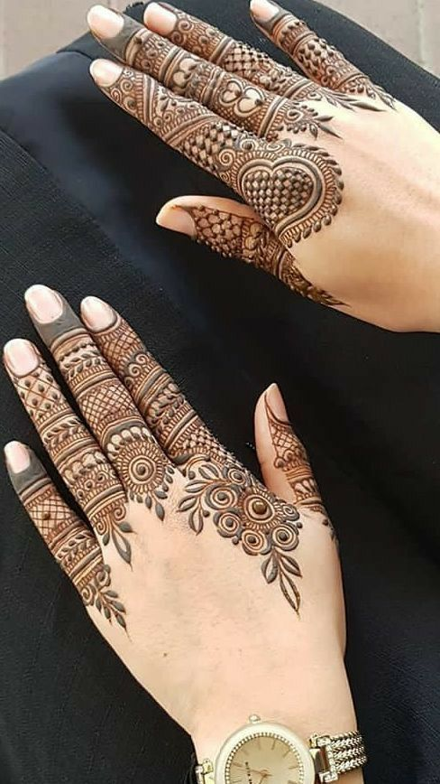 mehndi designs for Eid for fingers floral bail
