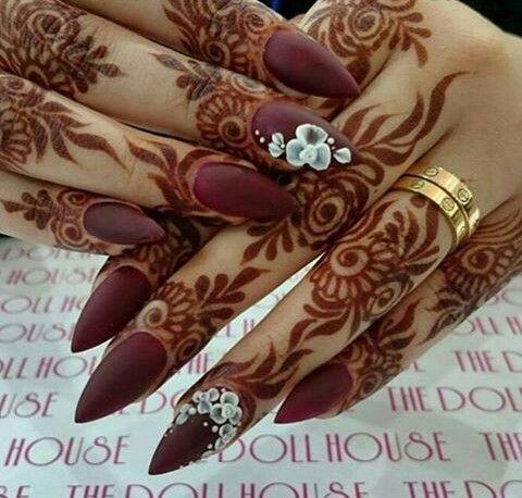 mehndi designs for Eid for fingers bail work