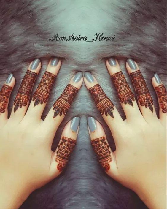 mehndi designs for Eid for fingers refine work