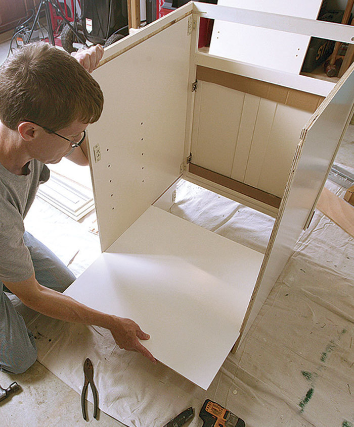 installing IKEA kitchen cabinets have all the items