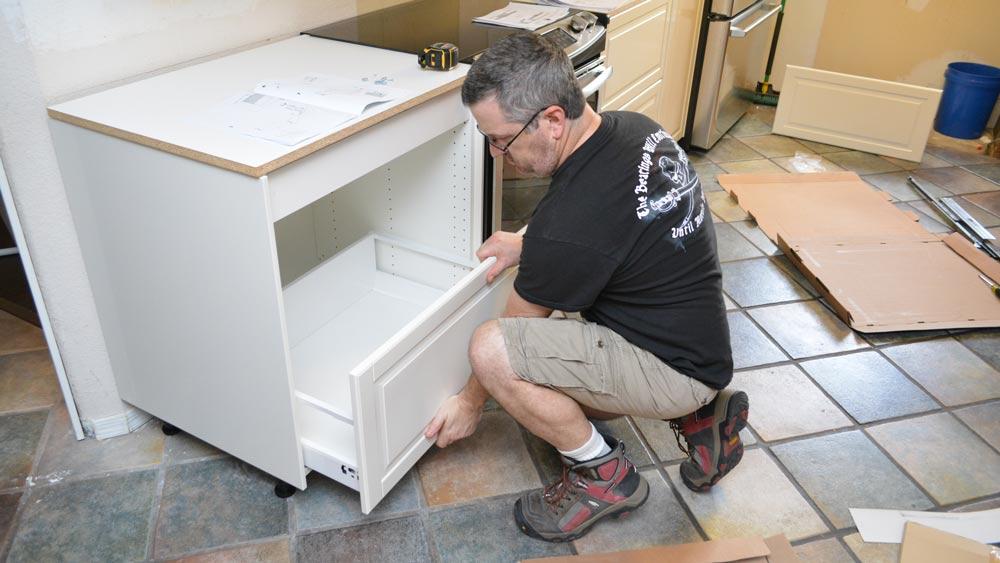 installing IKEA kitchen cabinets follow instructions