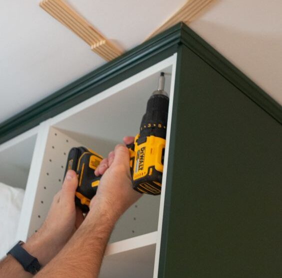 installing IKEA kitchen cabinets use a drill