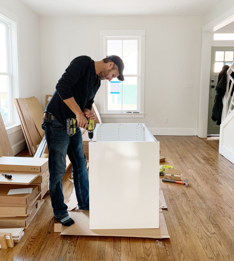 check the backboards installing IKEA kitchen cabinets