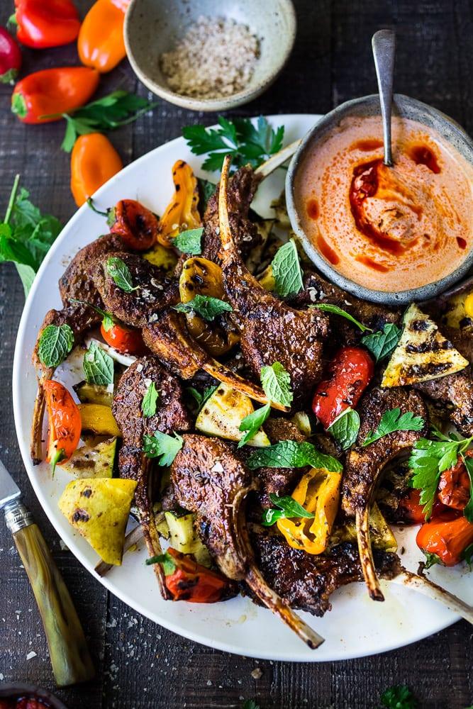 bbq menu ideas for eid al adha harissa lamb chops