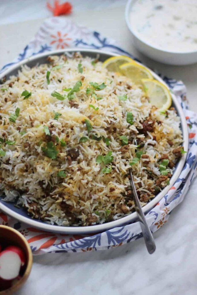 rice mince recipes for eid al adha 2021 keema chawal