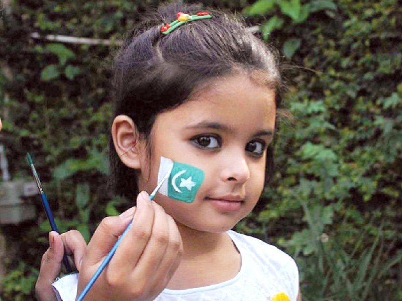 creative things to do for independence day face painting