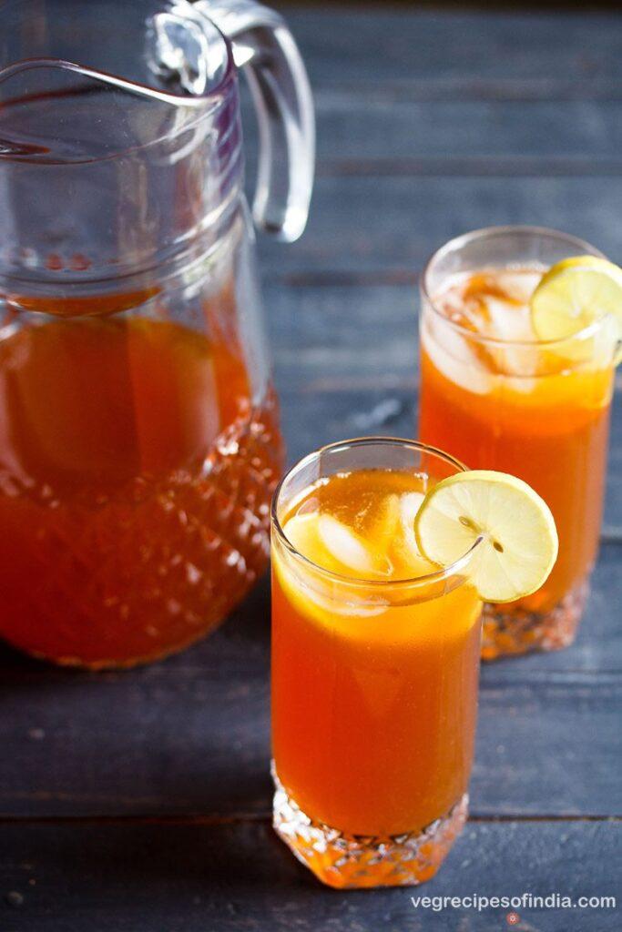 iced summer drink recipes lemon iced tea