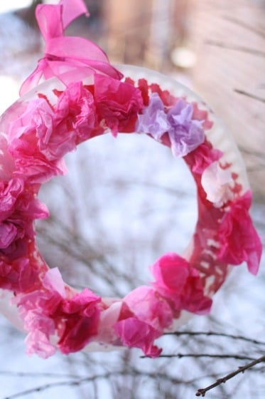 creative things to do for kids wreath
