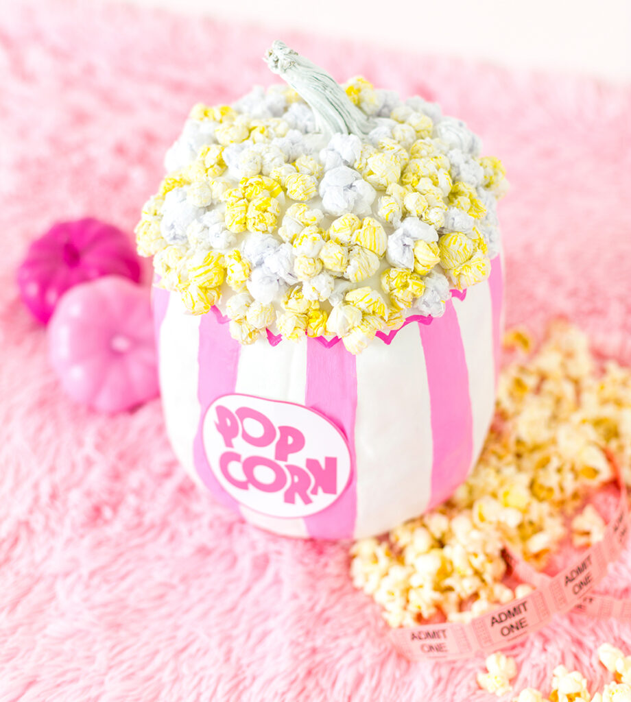 gift related creative things to do for pinktober pumpkin popcorn