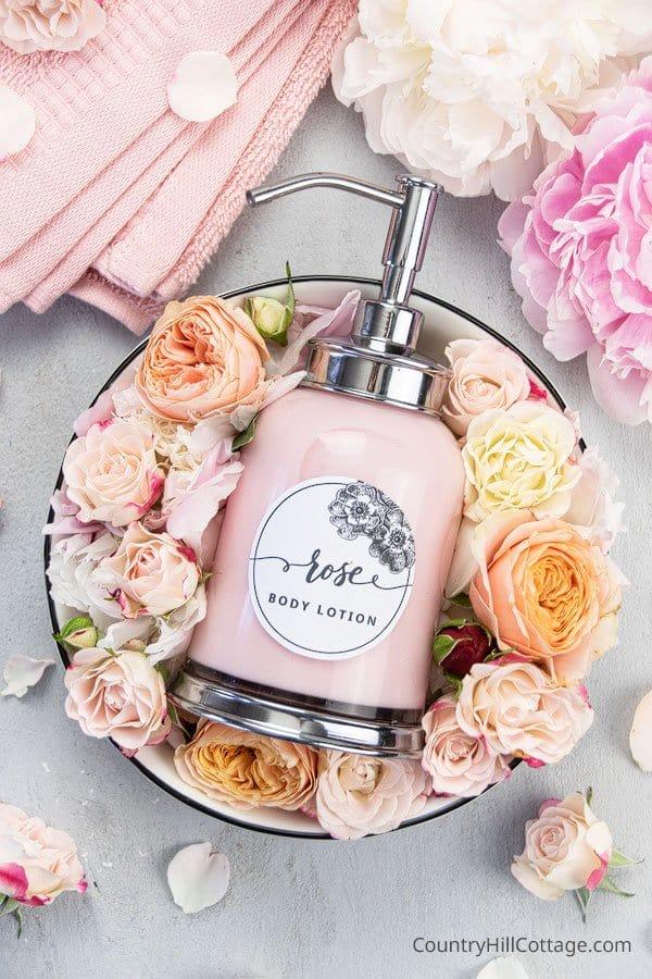 skincare pinktober craft ideas rose lotion