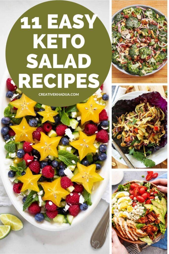 11 quick and easy keto salad recipes