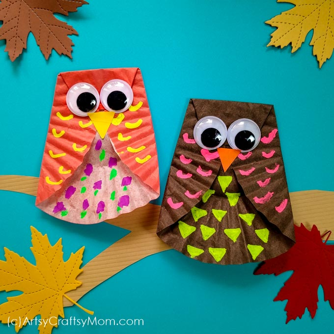 easy paper craft for kids cupcake liner owl