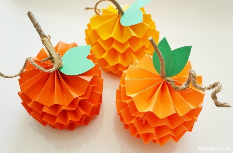 fall creative project ideas for teenagers paper pumpkin