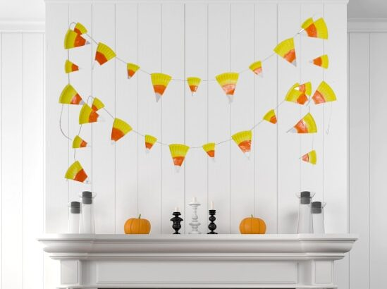 fall creative project ideas candy corn bannerfor teenagers
