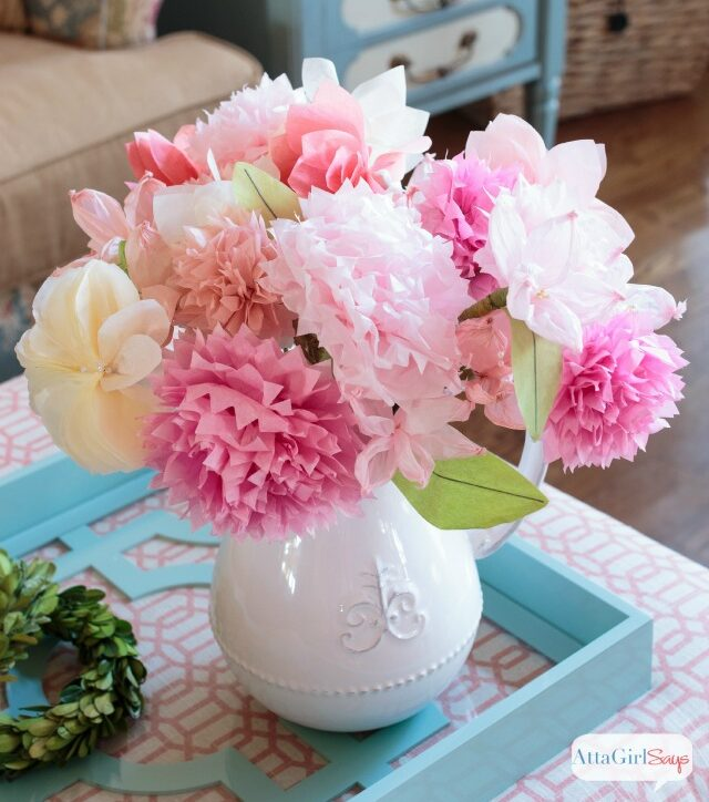 easy paper craft for adults tissue flowers