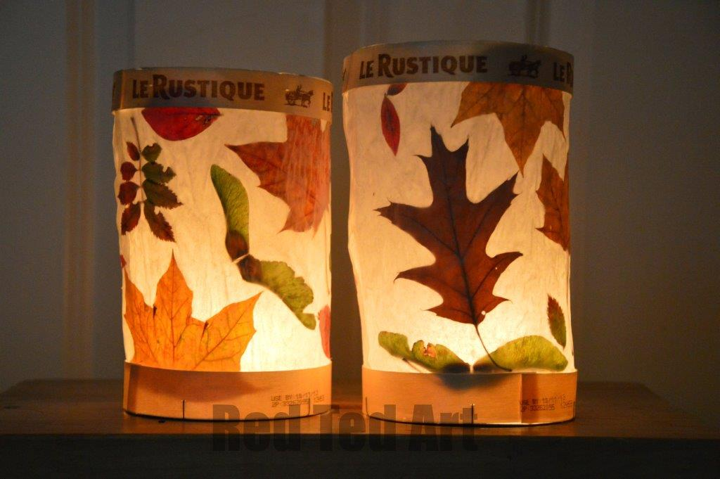 easy paper craft for adults leaf lantern