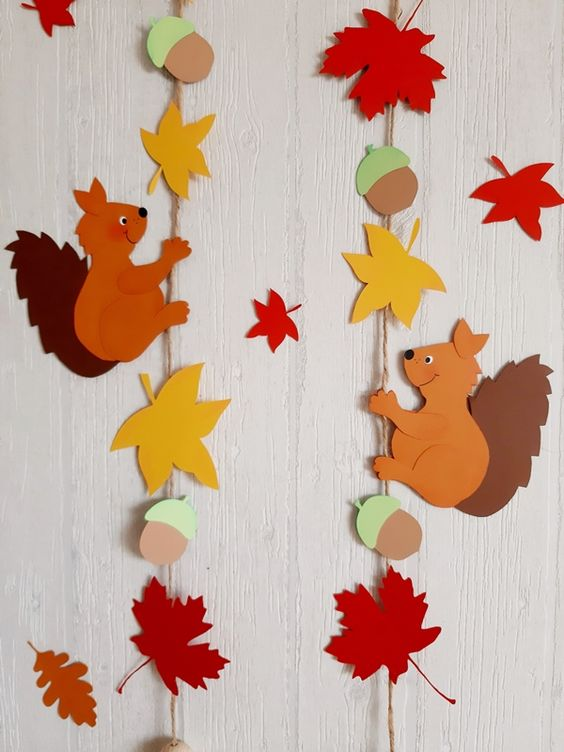 easy paper craft for adults fall garland
