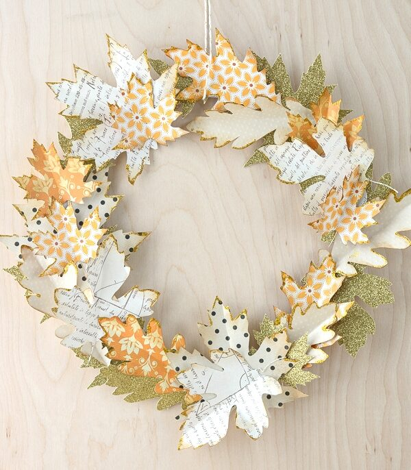 easy paper craft for adults autumn wreath