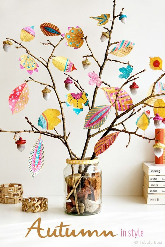 easy paper craft for adults fall display