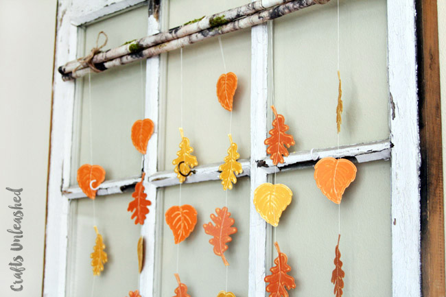 easy paper craft for adults leaf garland