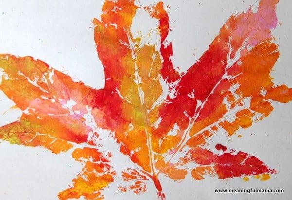 easy paper craft for kids leaf art