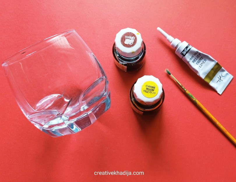Glass painting craft supplies
