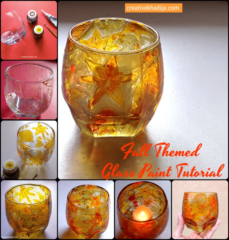 how to paint fall leaves glass painting