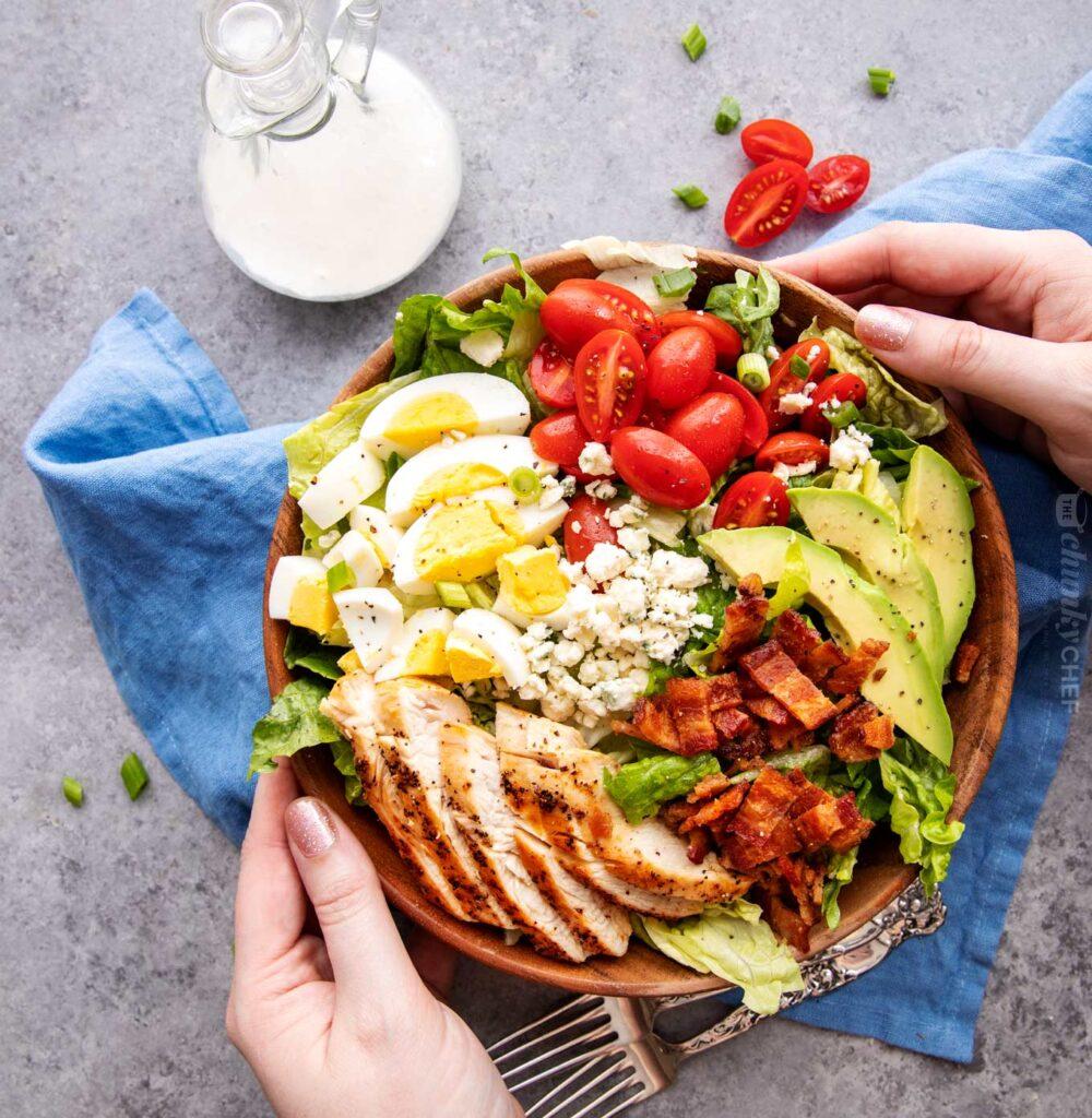 easy keto salad recipes keto cobb salad