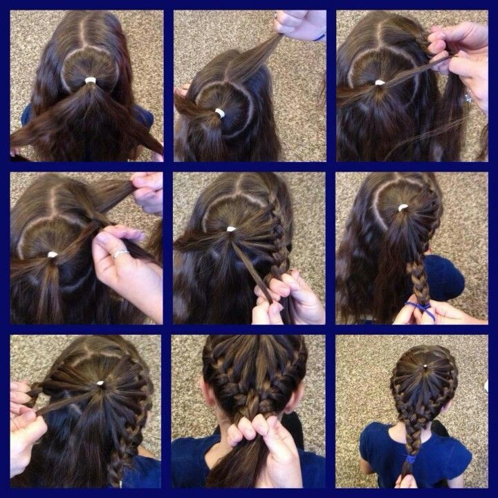 little girl braid hairstyles heart braided design