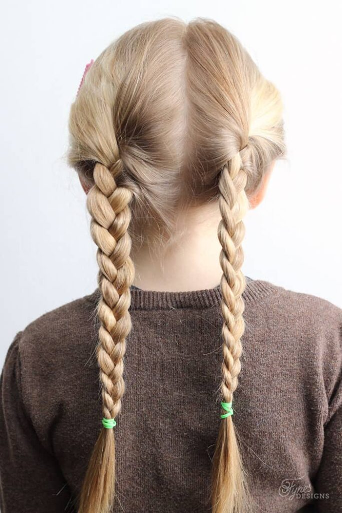 5 minutes little girl hairstyles pigtail braids