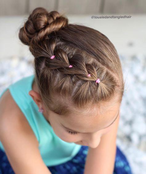 kids hairstyles for girls braided bun