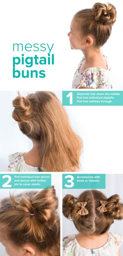 kids hairstyles for girls pigtail buns